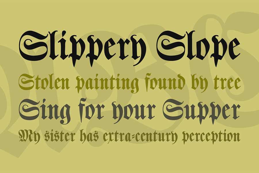 Klaber Fraktur Font
