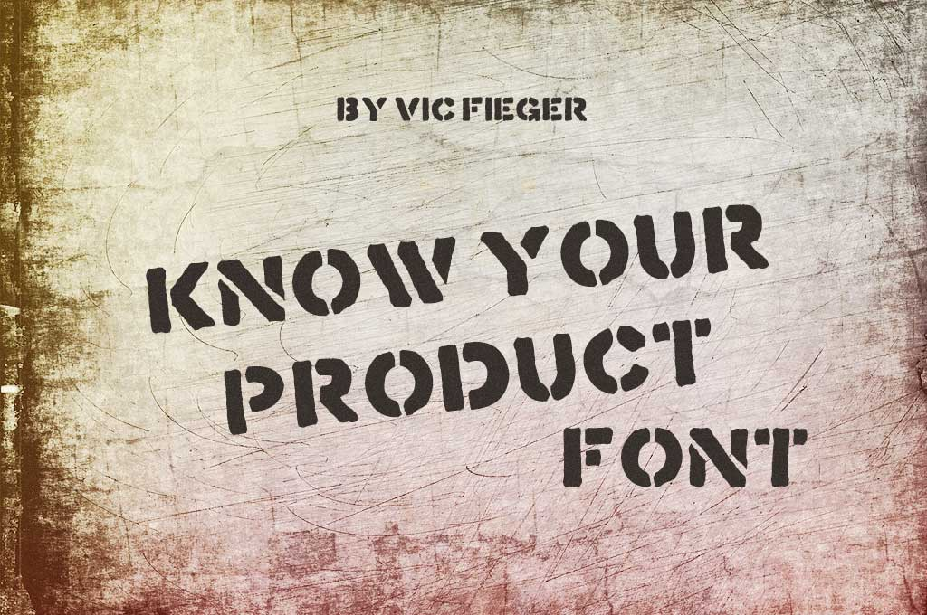 Know Your Product Font