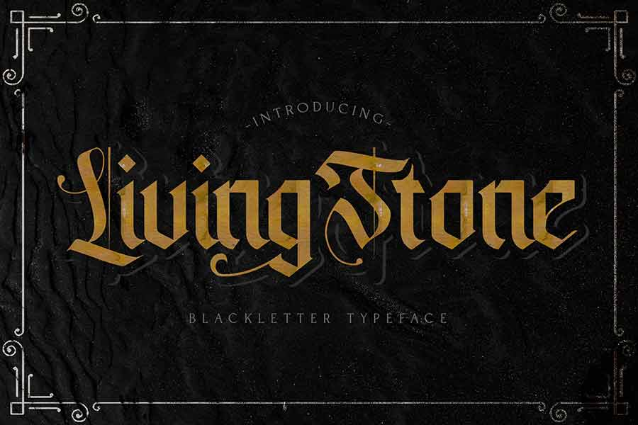 Livingstone Gothic Font