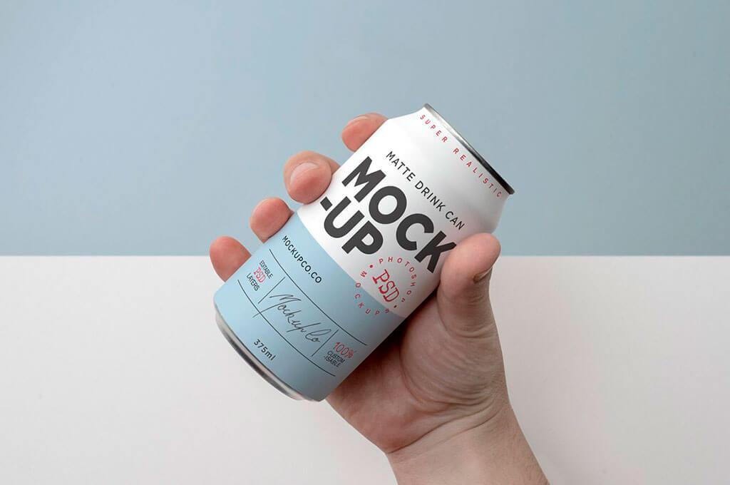 Matte Drink Can Mockup Bundle