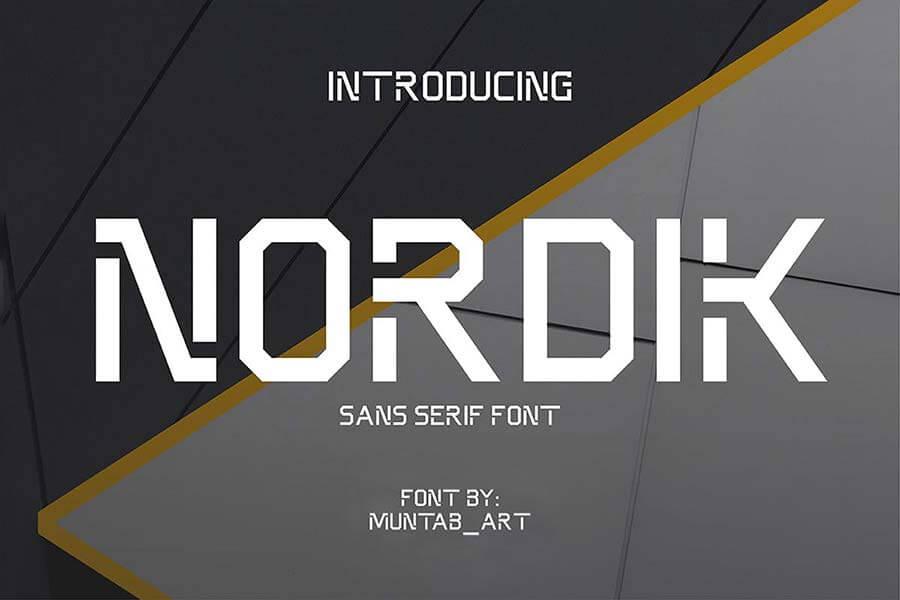 Nordik | Future Font