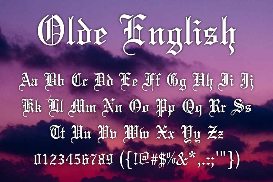 Olde English — Gothic Font