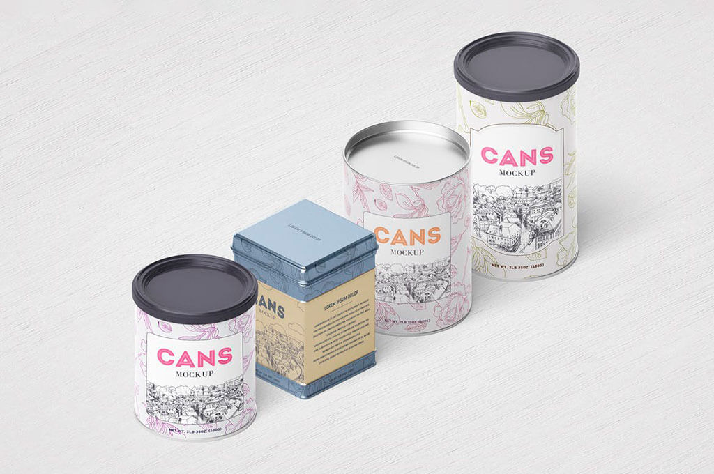 Packaging / Cans Mockup
