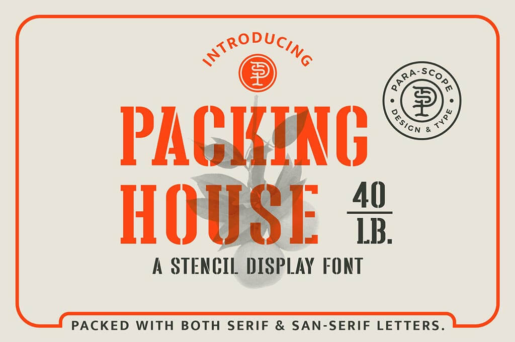 Packing House - Stencil Display Font