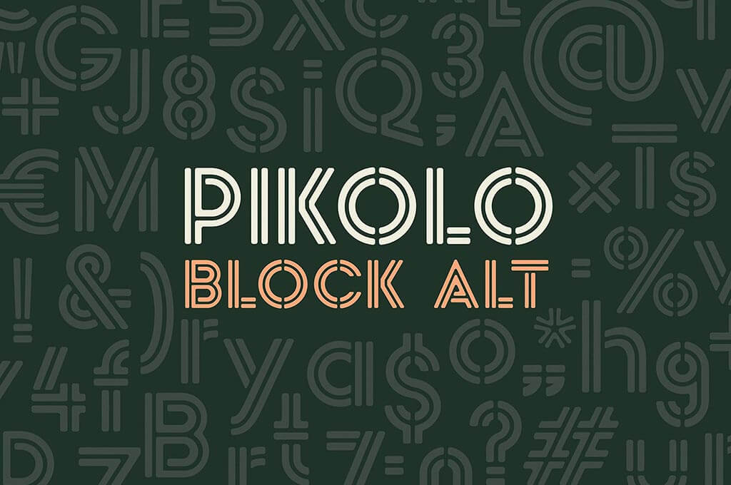 Pikolo Block Alt Display Font