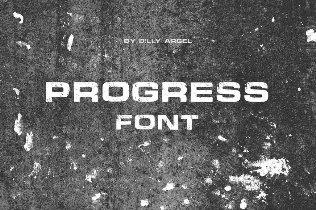 Progress Font