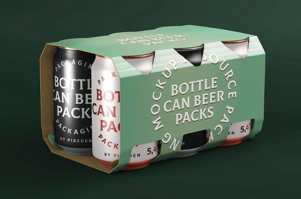 Psd Mockup Beer Can Packaging