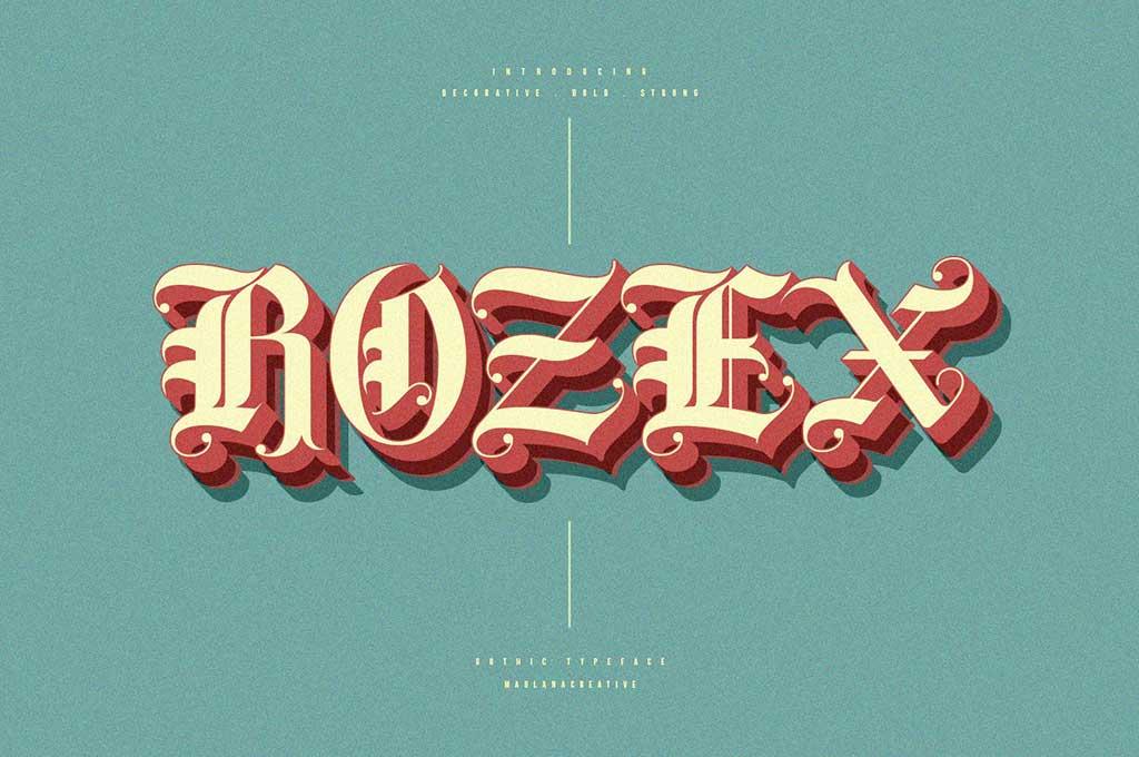 Rozex — Bold Decorative Gothic Font