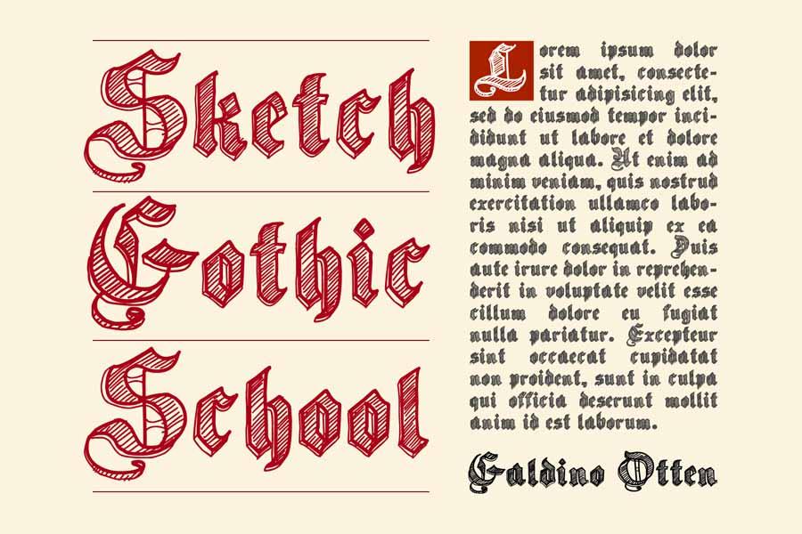 Sketch Gothic School