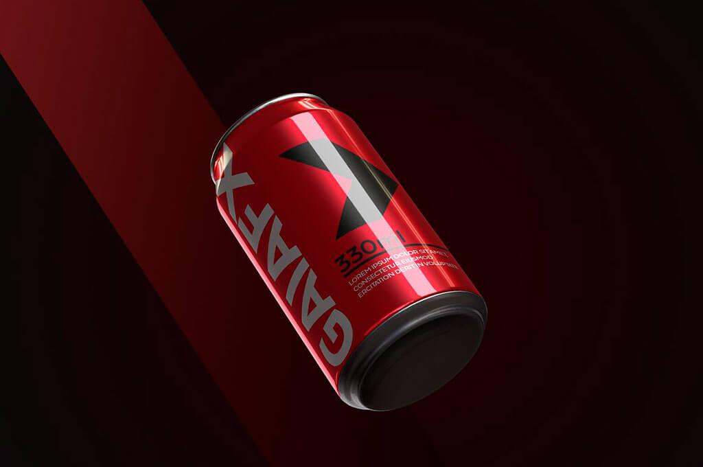 Soda Can PSD Mock Up Templates