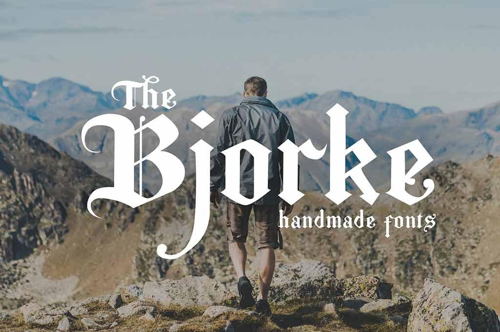 The Bjorke — Handmade Fonts