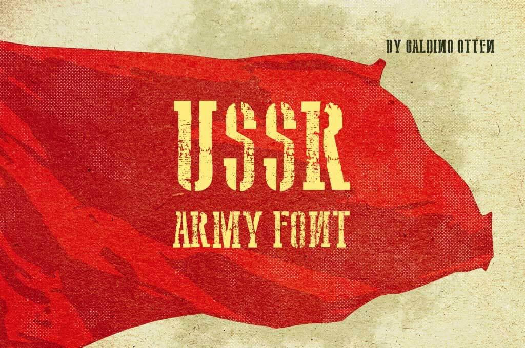 USSR Army Font