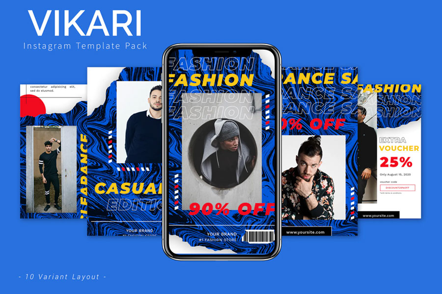 Vikari — Instagram Template Pack