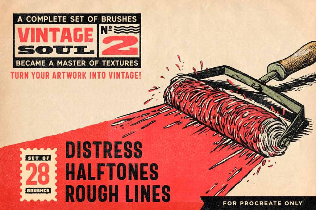 Vintage Soul Procreate Brushes