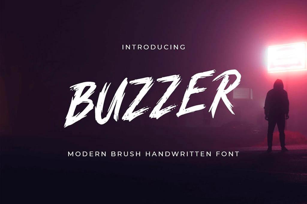 BUZZER - Modern Brush Handwritten Font