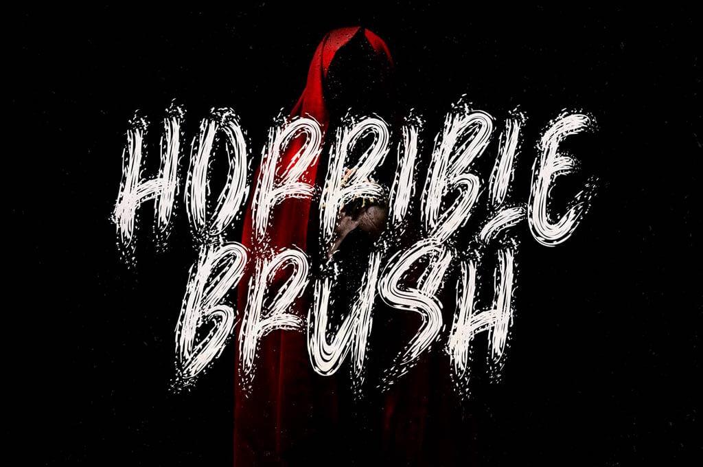 Horrible Brush - Horror Font