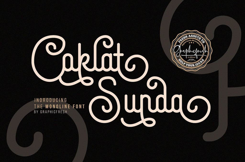 Coklat Sunda The Monoline Font
