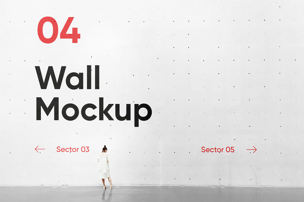 Concrete Wall PSD Mockup
