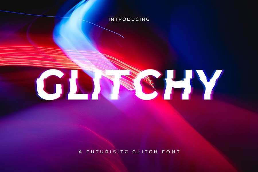 Glitchy - A digital Glitch Font