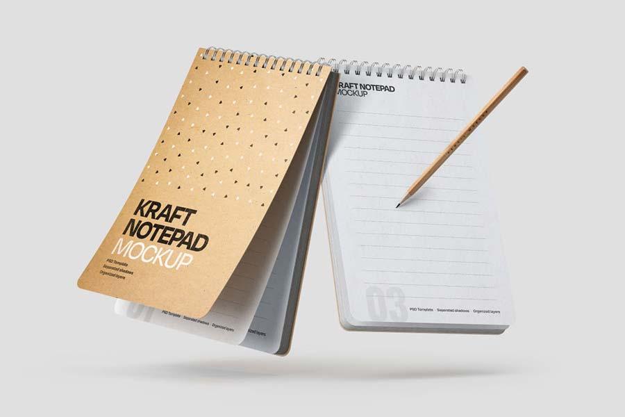 Kraft Notepad Mockup Set