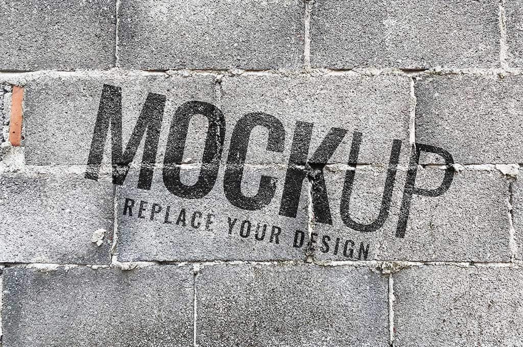 Old brick wall mockup realistic Premium Psd