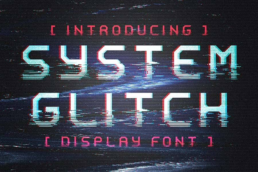 System Glitch - Display Font