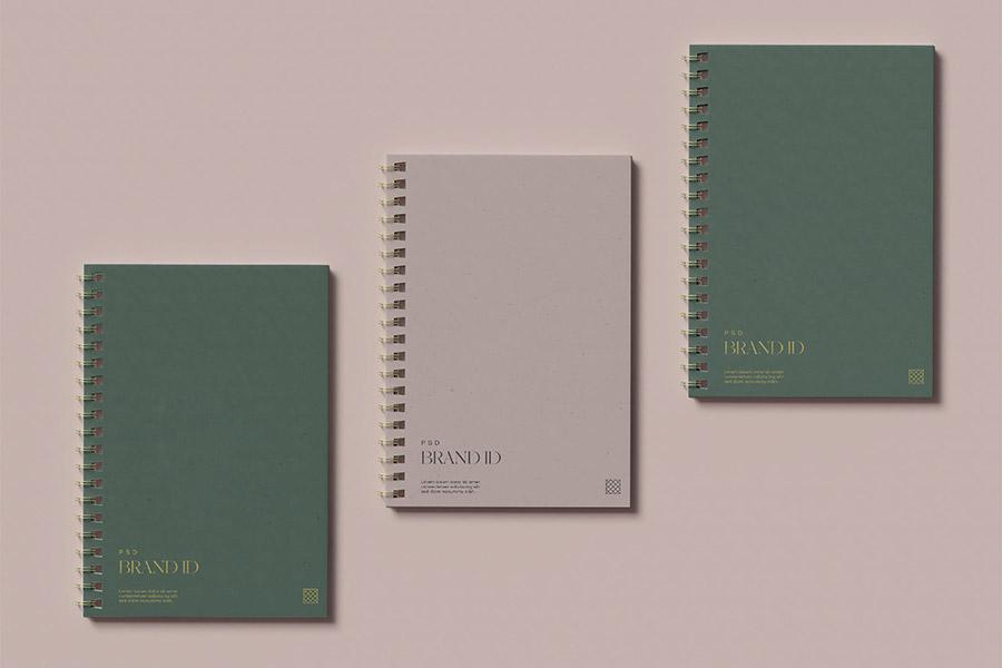 Three Notebook Mockup