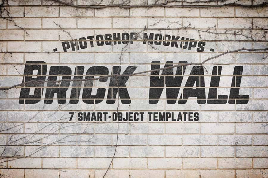 Urban Jungle Brick Wall Mockups Volume 1