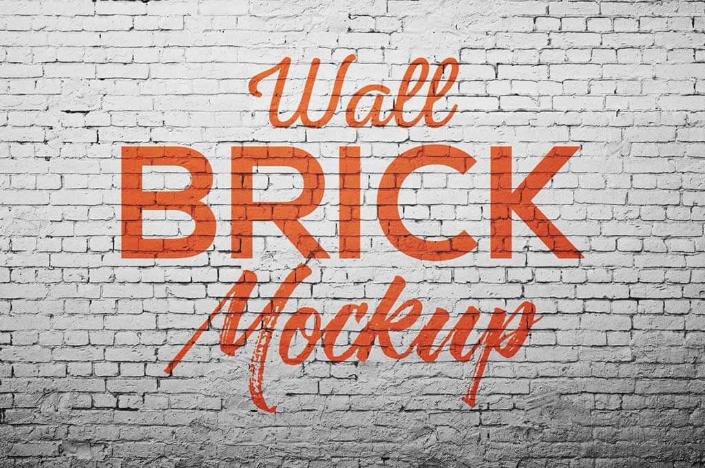 Wall Brick Mockup