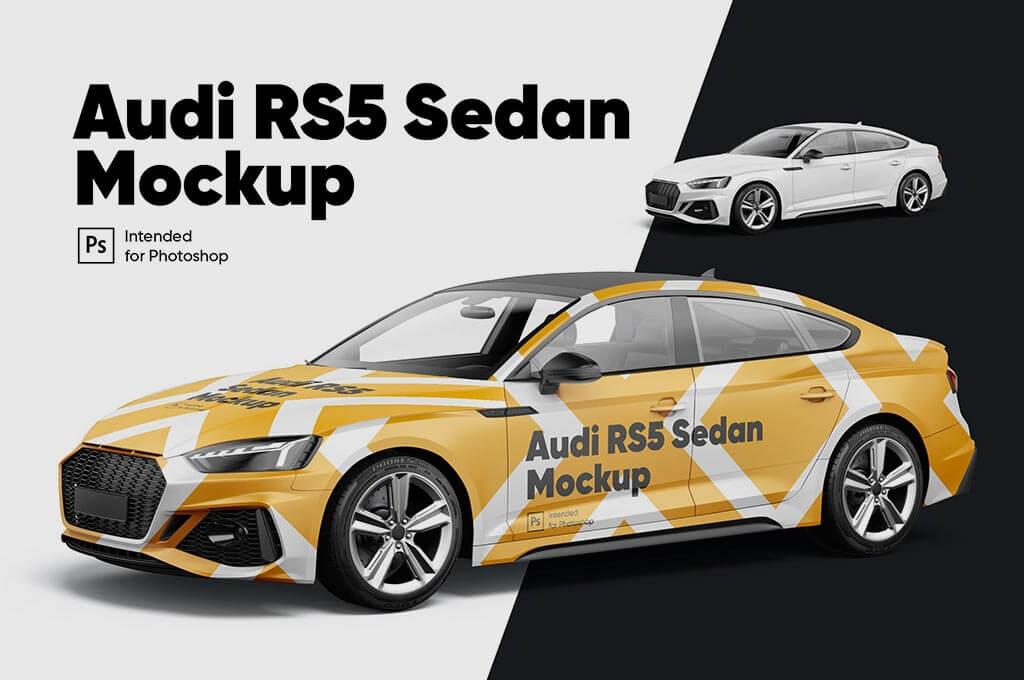 Audi RS5 Sedan Mockup