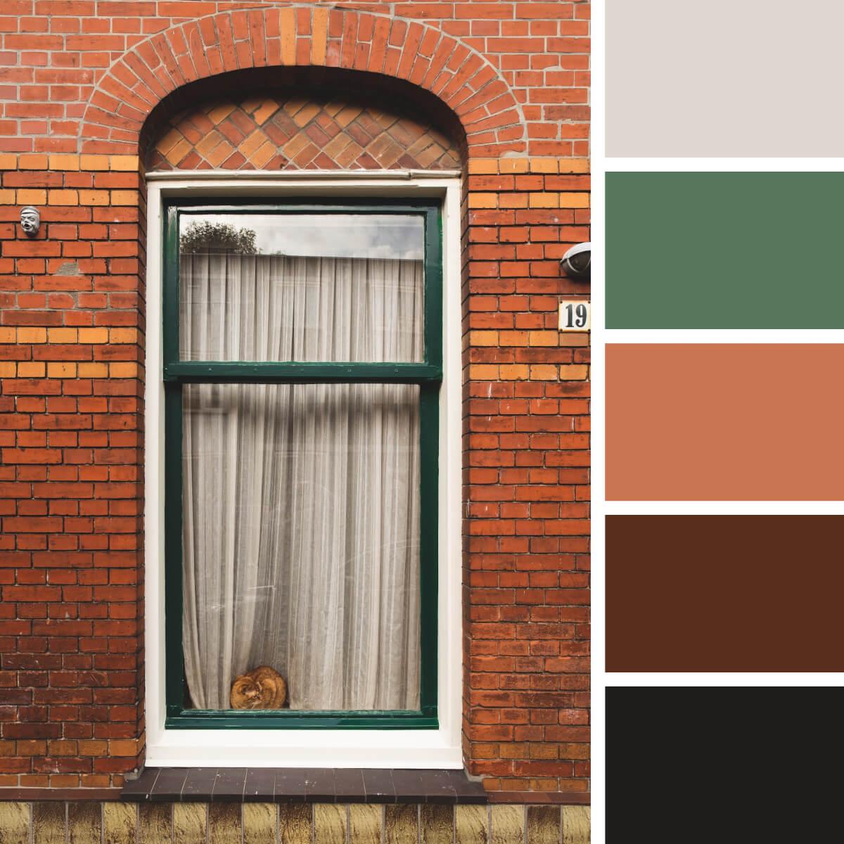 Brick Red & Green