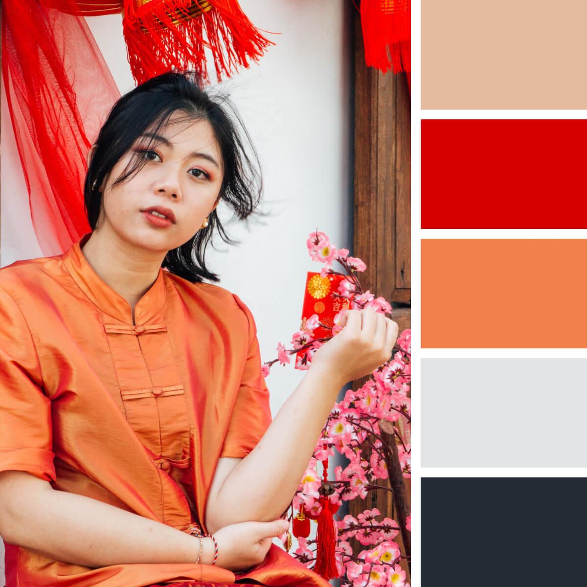 Chinese Red & Orange