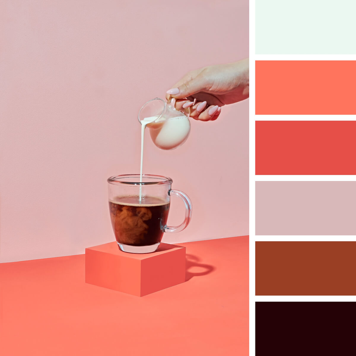 Coffee Brown & Coral