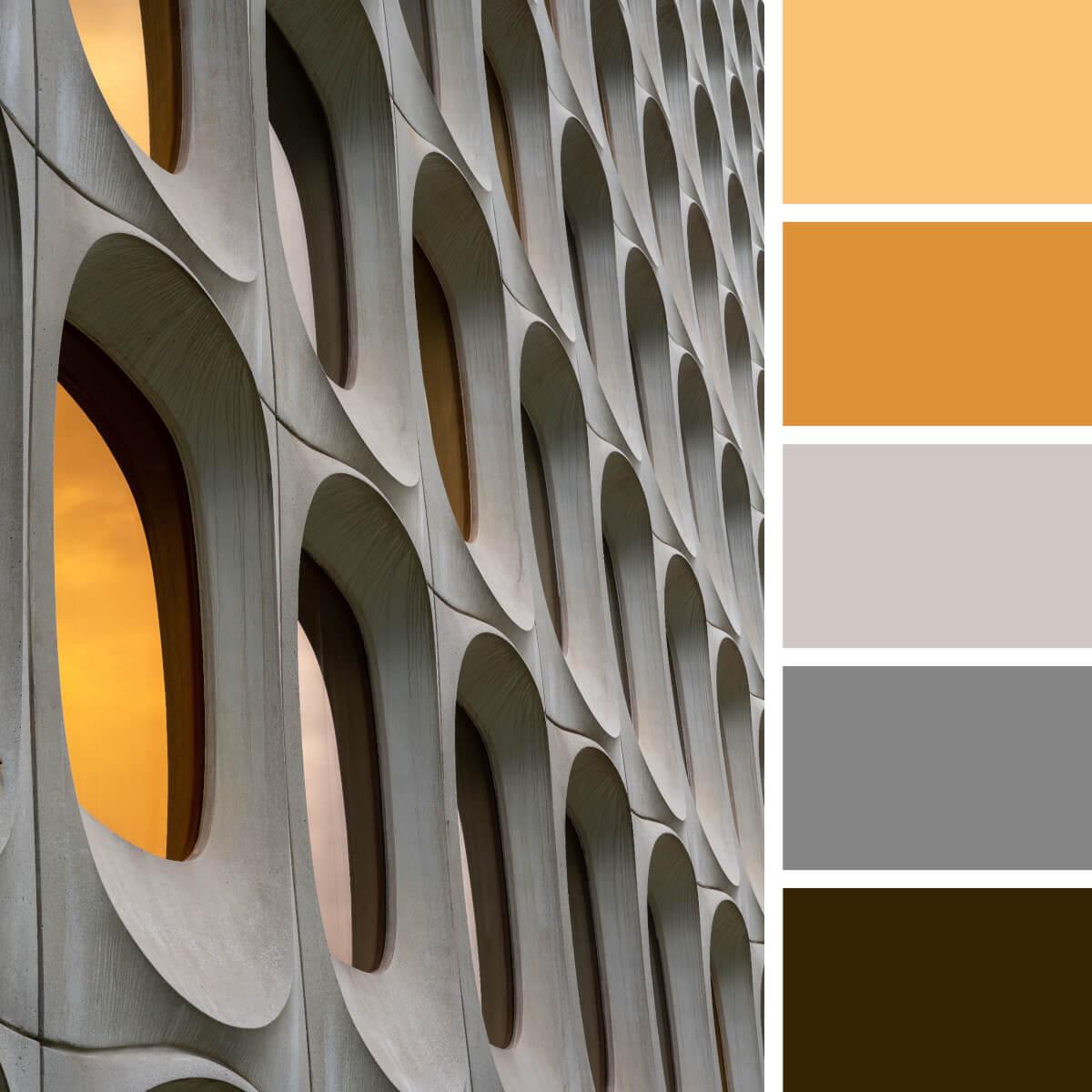 Concrete Gray & Orange