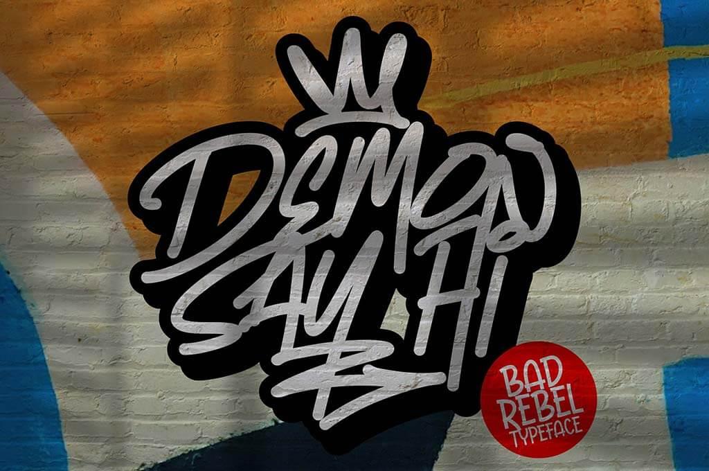 Demon Say Hi - Rebel Graffiti Typeface