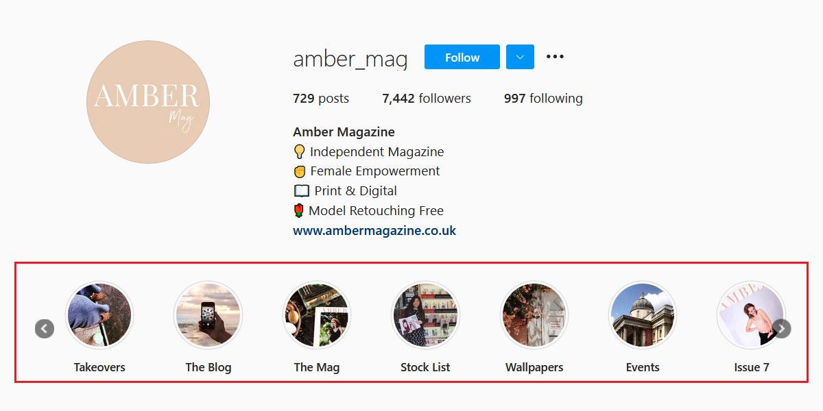 Design Instagram Highlights