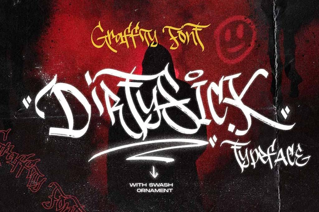 DirtySick   Graffiti Font Logotype