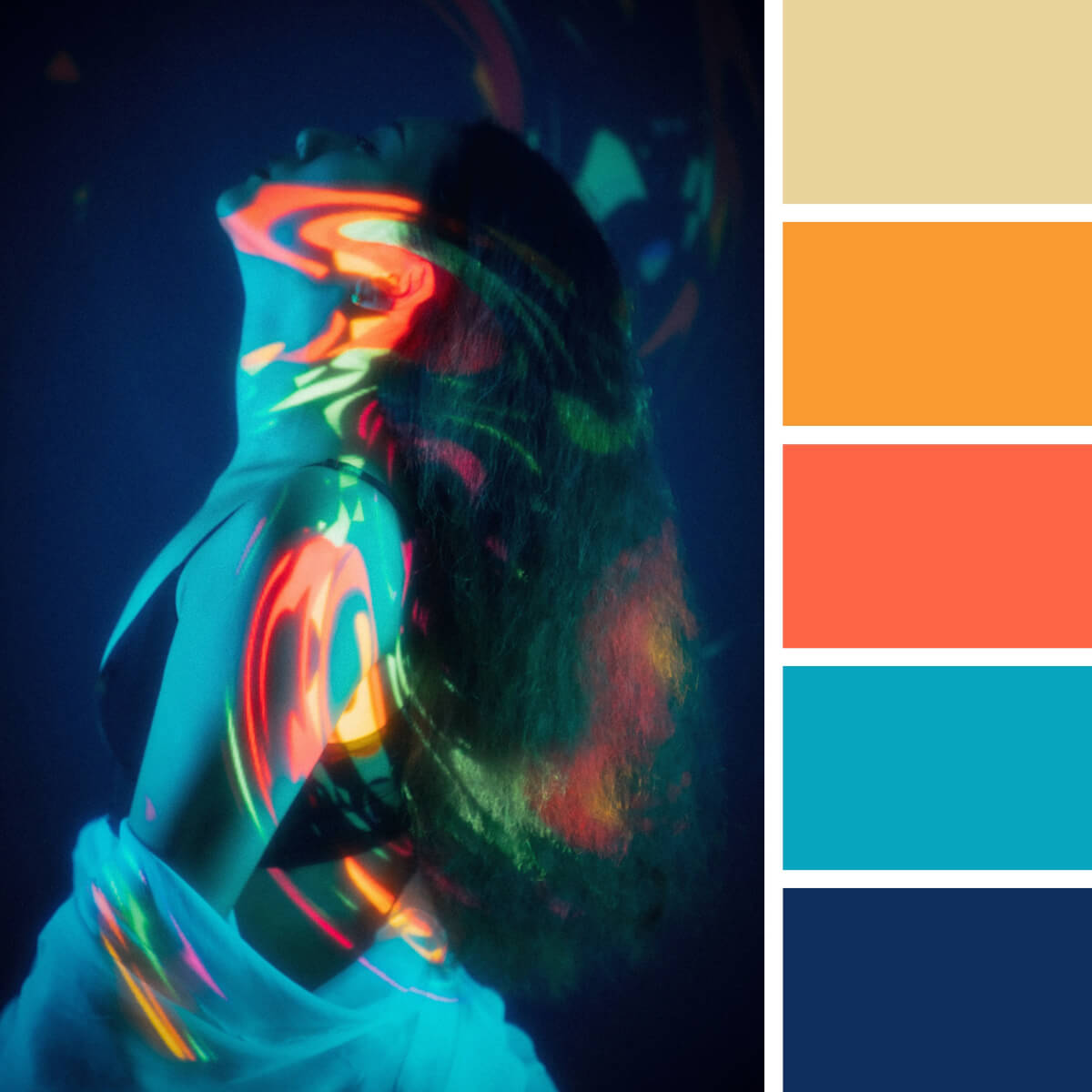 Electric Blue & Orange