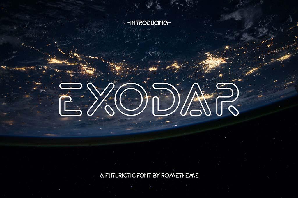 Exodar — Futuristic Font YR