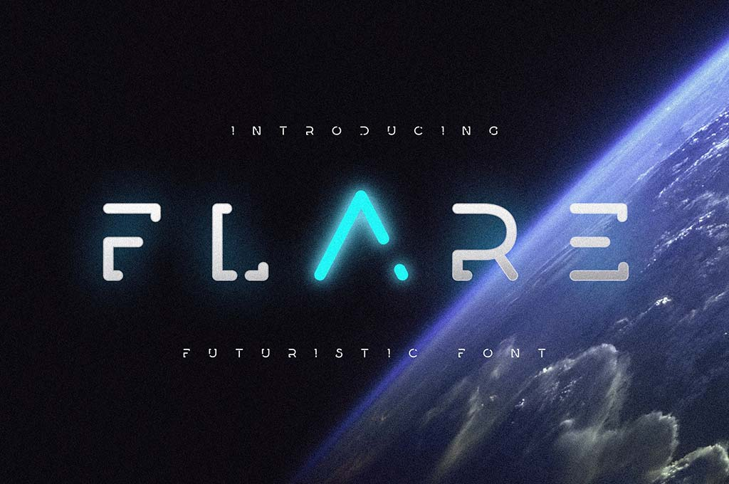 Flare — Futuristic Science Font