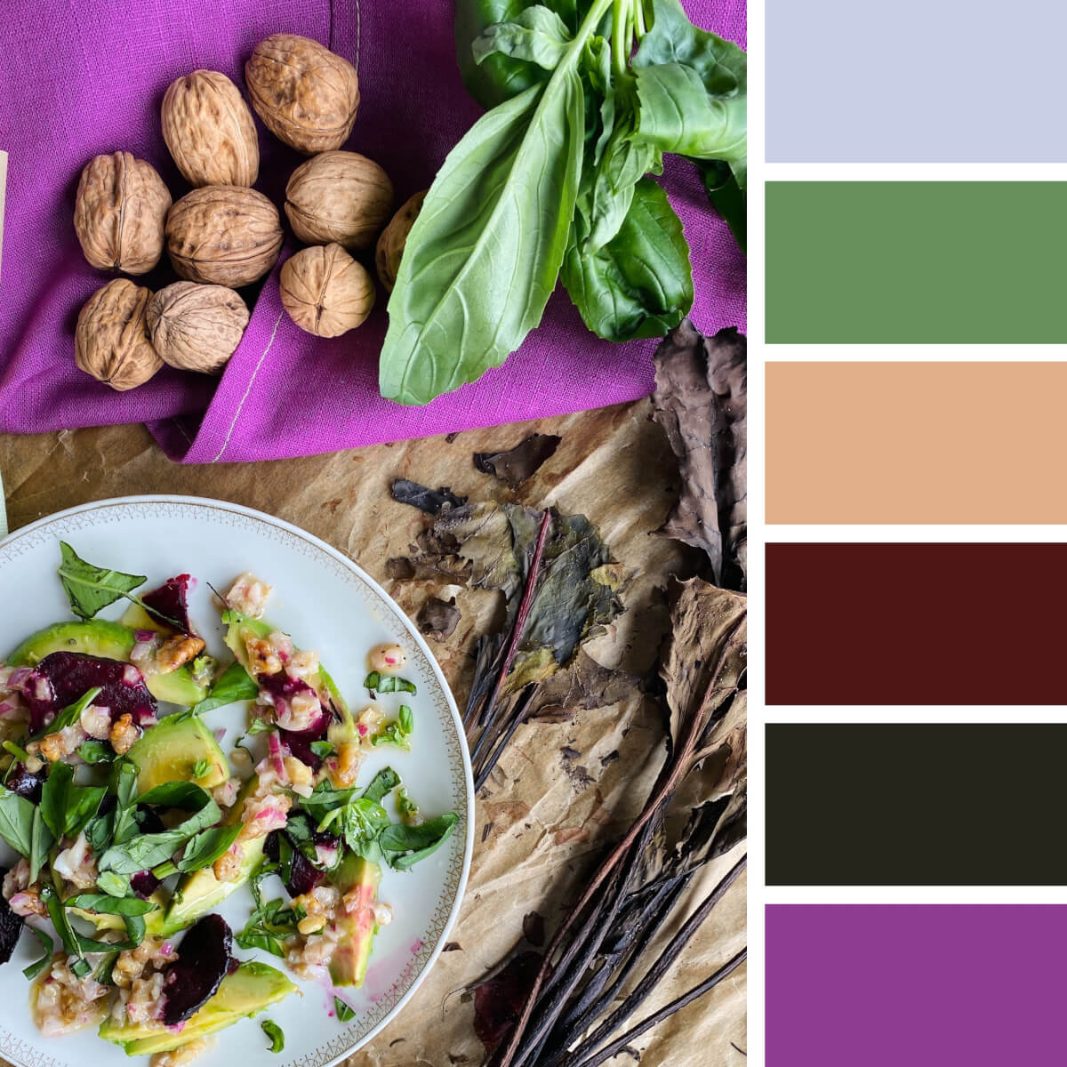 Gastronomic Purple & Green