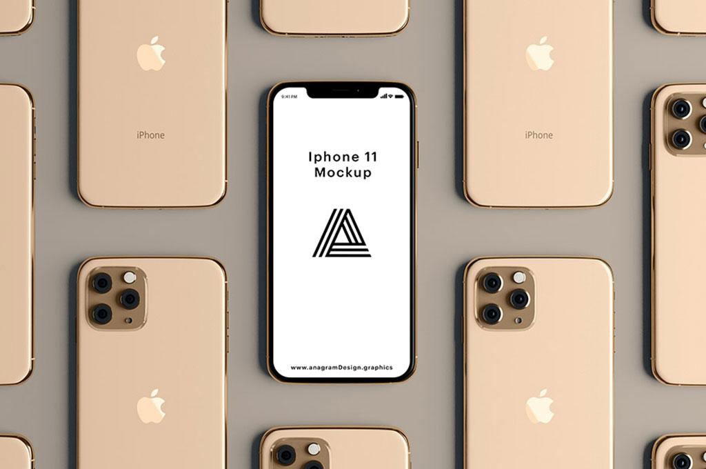 Gold iPhone 11 Mockup