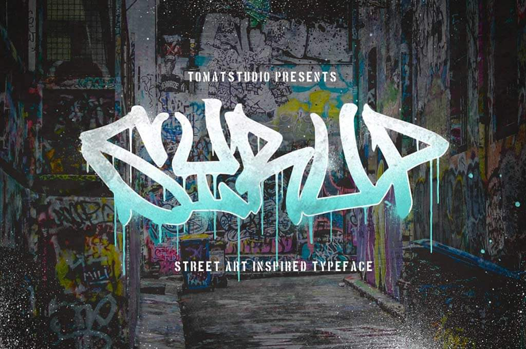 Graffiti inspired Typeface   Syrup