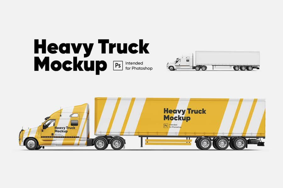 Heavy Truck Mockup