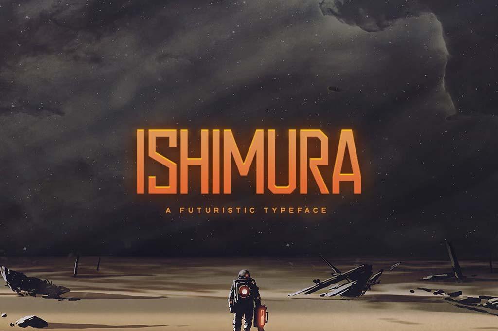 Ishimura — Futuristic Font
