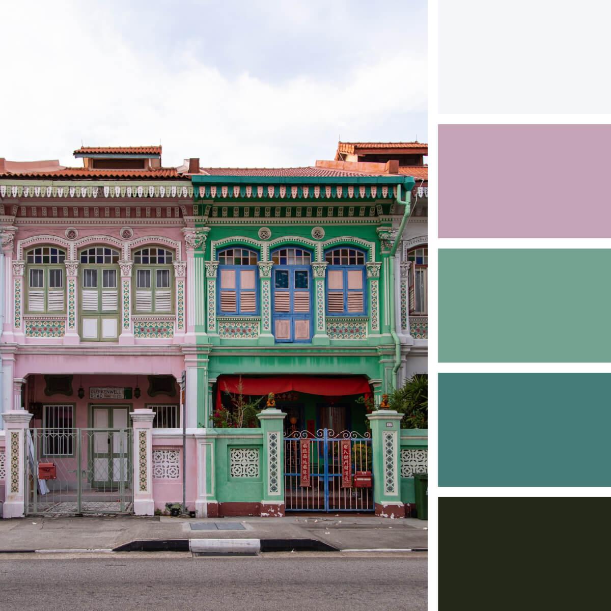 Joyful Pink & Green