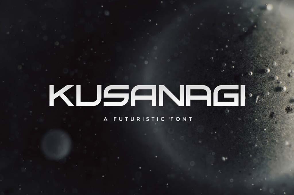 Kusanagi — Futuristic Font