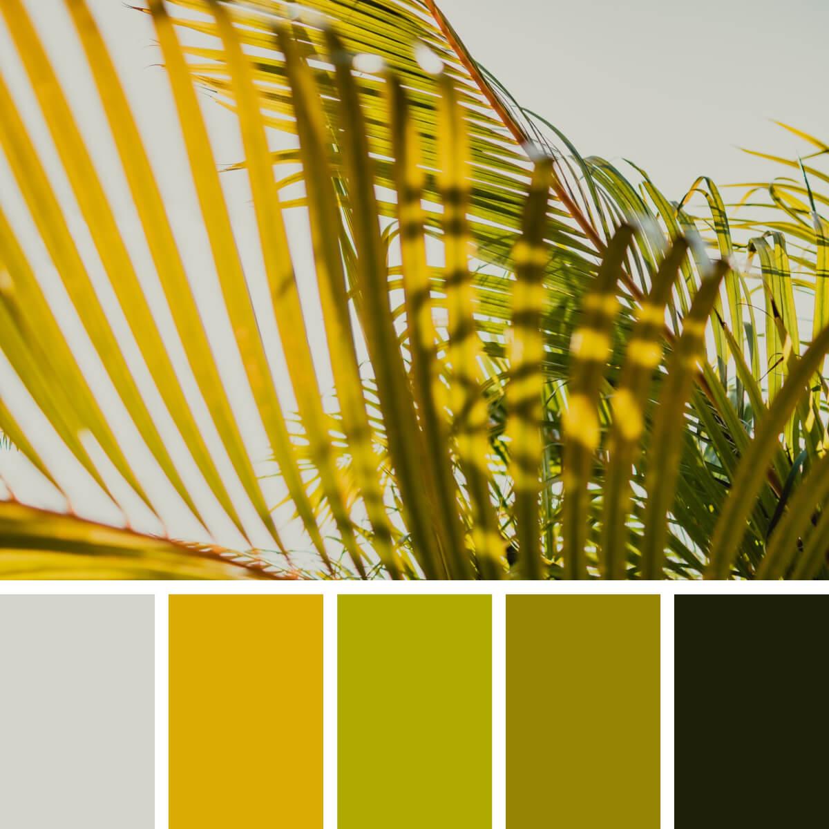 Leafy Gold & Green