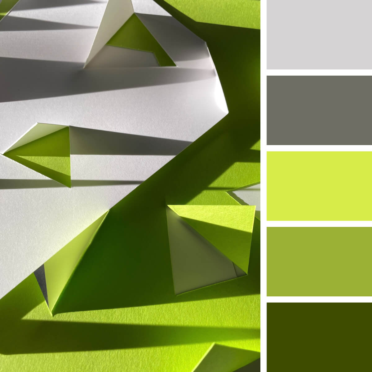 Lime Green & Gray