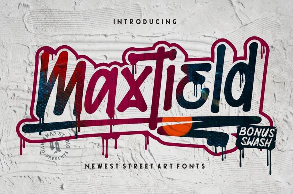 Maxtield   Graffiti Font